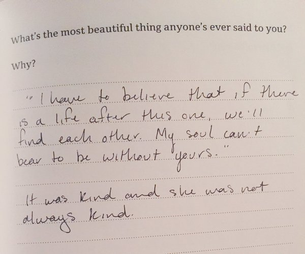 Whats The Most Beautiful Thing Anyones Ever Said To You